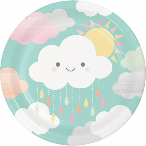 James Paul Products Sunshine Baby Showers Lunch Plates Perspective: front