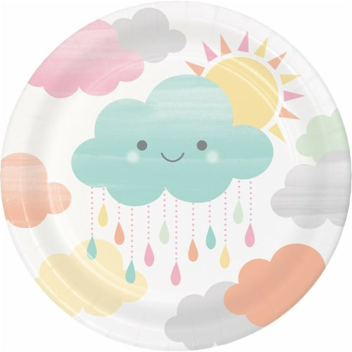 James Paul Products Sunshine Baby Showers Dessert Plates Perspective: front