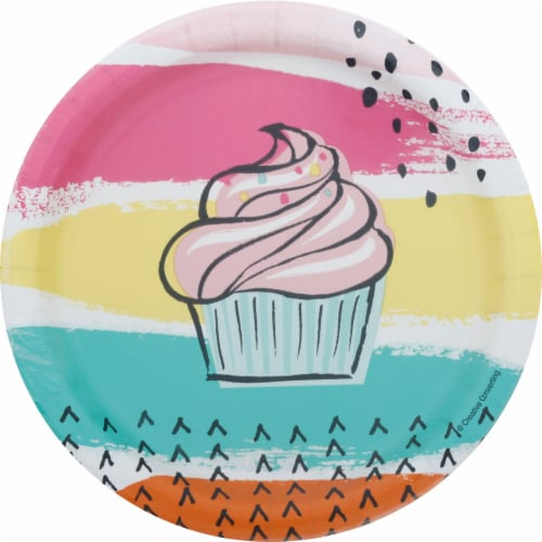 James Paul Products 7-Inch Chic Cupcake Lunch Plates Perspective: front