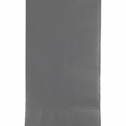 Creative Converting 339630 Glamour Gray 2 Ply Dinner Napkins, 50 Count Perspective: front