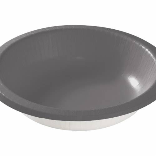 Creative Converting 339636 Glamour Gray Paper Bowls, 20 Count Perspective: front