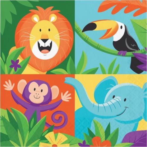 Creative Converting 339767 Jungle Safari Napkins, 16 Count Perspective: front