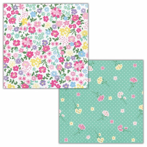 Creative Converting 339798 Floral Tea Party Napkins, 16 Count Perspective: front