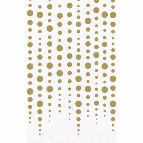 Creative Converting 339903 Gold 50th Anniversary Dinner Napkins, 16 Count Perspective: front