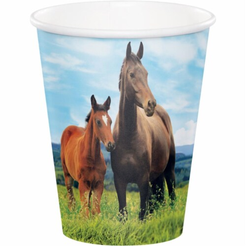 Creative Converting 340117 Wild Horse Cups, 8 Count Perspective: front