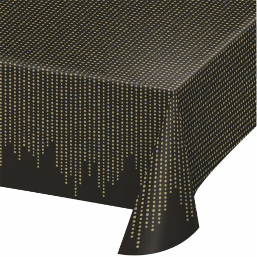 Creative Converting 343960 54 x 102 in. Roaring 20s Plastic Tablecloth - Case of 6 Perspective: front