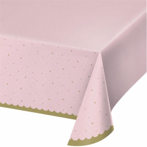 Creative Converting 343963 54 x 102 in. Stylish Swan Plastic Tablecloth - Case of 6 Perspective: front