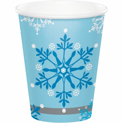 Creative Converting 343964 9 oz Snow Princess Paper Cup - 8 Count - Case of 12 Perspective: front
