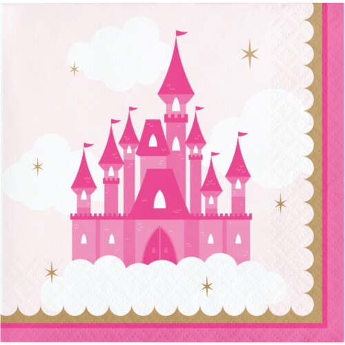 Creative Converting 344445 5 x 5 in. Napkins for Princess Drinks - 192 Count Perspective: front