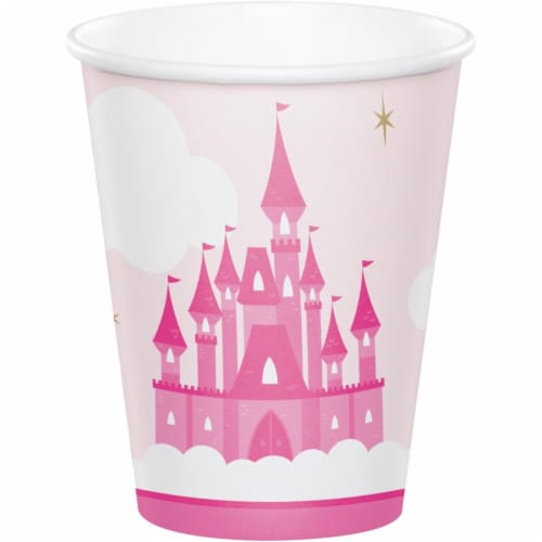 Creative Converting 344446 8 oz Little Princess Cups - 96 Count Perspective: front