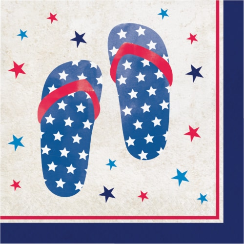 Creative Converting Patriotic Pattern Lunch Napkins Perspective: front