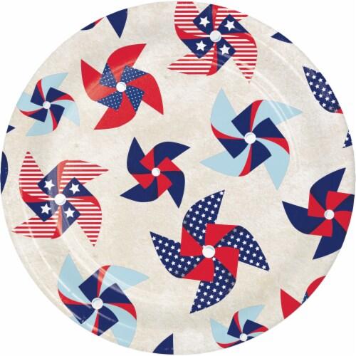 Creative Converting Patriotic Pinwheel Disposable Plates - 8 pk Perspective: front