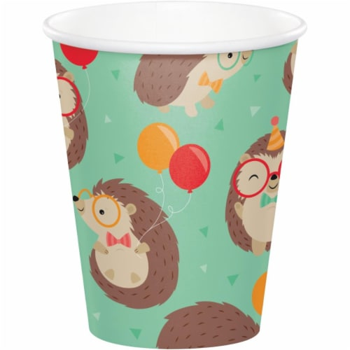 Creative Converting 345982 9 oz Hedgehog Party Cups - 96 Count Perspective: front