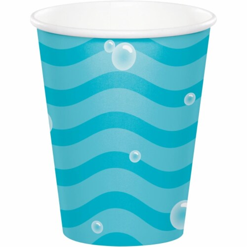 Creative Converting 345990 9 oz Ocean Paper Cups - 96 Count Perspective: front