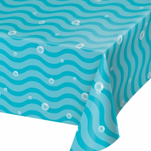 Creative Converting 345991 54 x 102 in. Ocean Paper Table Cloths - 6 Count Perspective: front