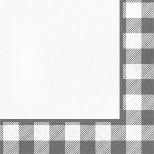 Creative Converting 346136 6.5 x 6.5 in. Buffalo Check Luncheon 1 by 4 Fold 2-Ply Tissue Napk Perspective: front