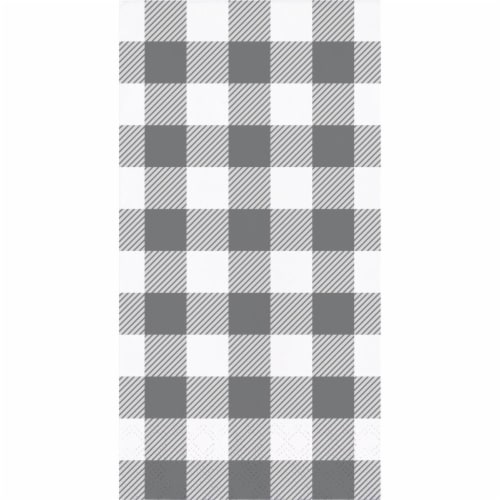 Creative Converting 346137 4 x 8 in. Buffalo Check Dinner 1 by 6 Fold 2-Ply Tissue Napkins, G Perspective: front