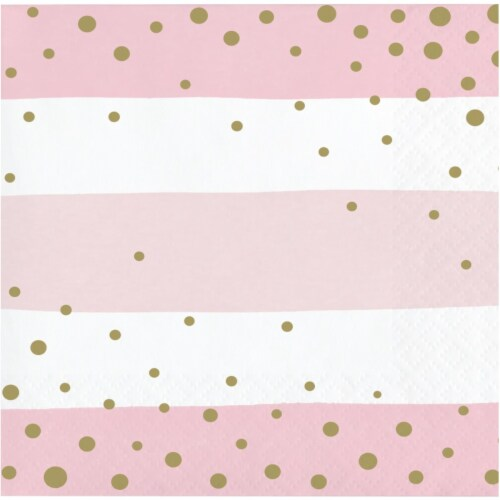 Creative Converting 346288 5 x 5 in. Celebration Beverage 1 by 4 Fold 2-Ply Tissue Napkins, P Perspective: front