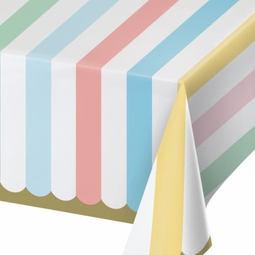 Creative Converting 346322 54 x 102 in. Pastel Celebrations Paper Tablecloths - 6 Count Perspective: front