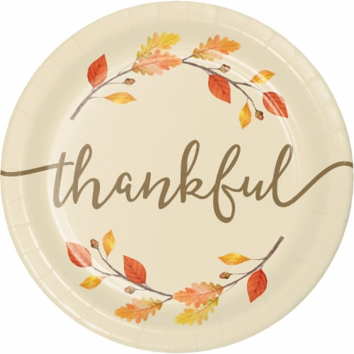 Creative Converting Thankful Thanksgiving Plates Perspective: front