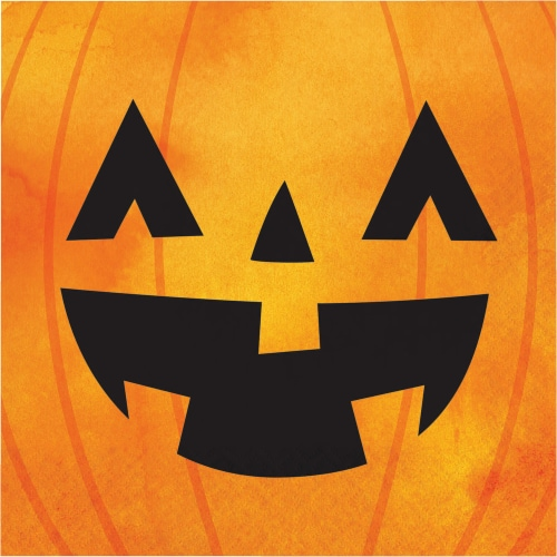 Creative Converting Chic Pumpkins Lunch Napkins Perspective: front