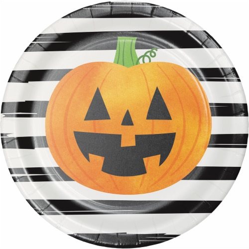 Creative Converting Chic Pumpkins Plates Perspective: front