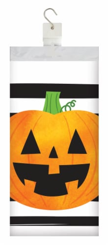 Creative Converting Chic Pumpkins Tablecloth Perspective: front
