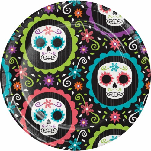 Creative Converting Day of the Dead Plates Perspective: front