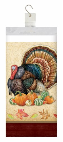 Creative Converting Harvest Turkey Tablecloth Perspective: front