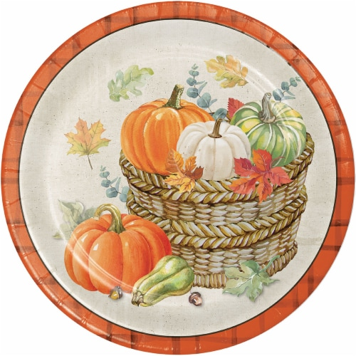 Creative Converting Trendy Fall Plates Perspective: front