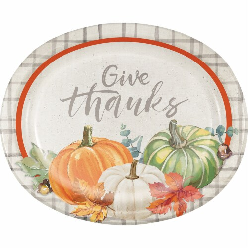 Creative Converting Trendy Fall Oval Platters Perspective: front