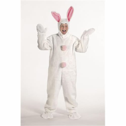Halco 1091 White Bunny Suit with Hood- Size Child s 6-8 Perspective: front