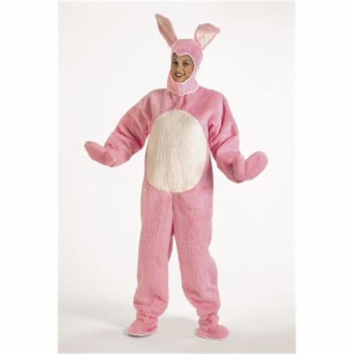 Halco 1091-P Pink Bunny Suit with Hood- Size Child s 6-8 Perspective: front