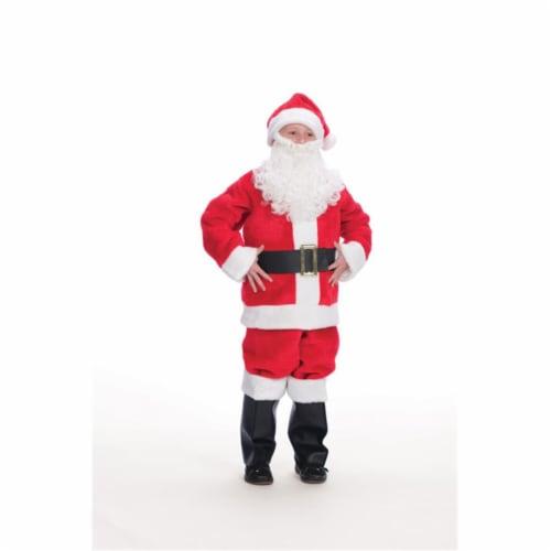 Halco 908 Child's Plush Santa Suit- Size 6-8 Perspective: front