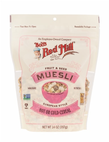 Bob's Red Mill Fruit & Seed Muesli European Style Hot or Cold Cereal Perspective: front