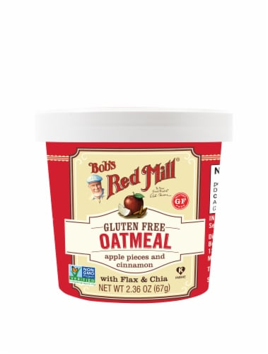 Bob's Red Mill Gluten Free Apple Pieces & Cinnamon Oatmeal Cup Perspective: front