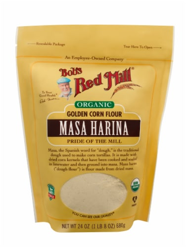 Bob's Red Mill Organic Masa Harina Golden Corn Flour Perspective: front