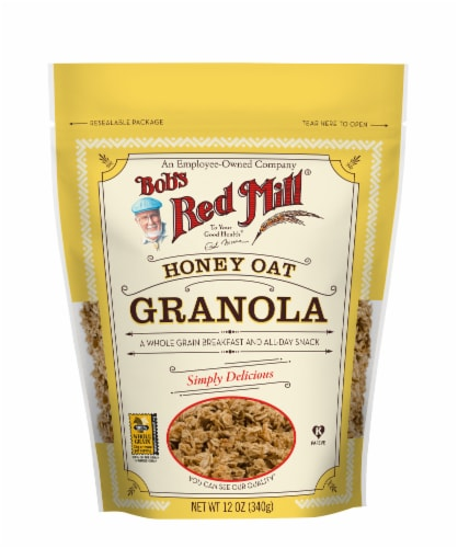 Bob's Red Mill Honey Oat Granola Perspective: front