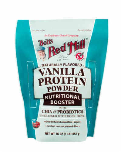 Bob's Red Mill Nutritional Booster Vanilla Protein Powder Perspective: front