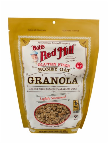 Bob's Red Mill Gluten Free Honey Oat Granola Perspective: front
