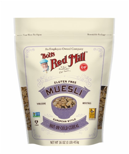 Bob's Red Mill Gluten Free Muesli European Style Cereal Perspective: front