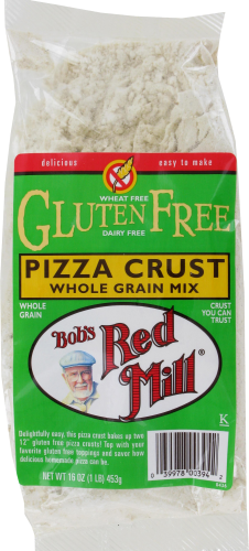 Bob's Red Mill Gluten Free Whole Grain Pizza Crust Mix Perspective: front
