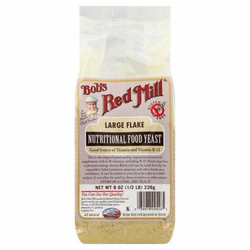 Bob's Red Mill Large Flake Yeast Perspective: front