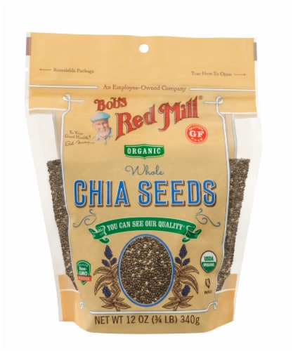 Bob's Red Mill Organic Whole Chia Seeds Perspective: front
