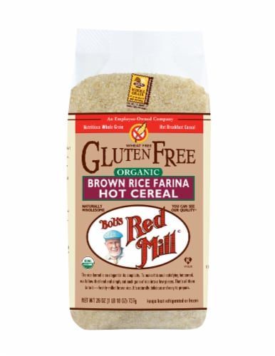 Bob's Red Mill Gluten Free Organic Brown Rice Farina Hot Cereal Perspective: front