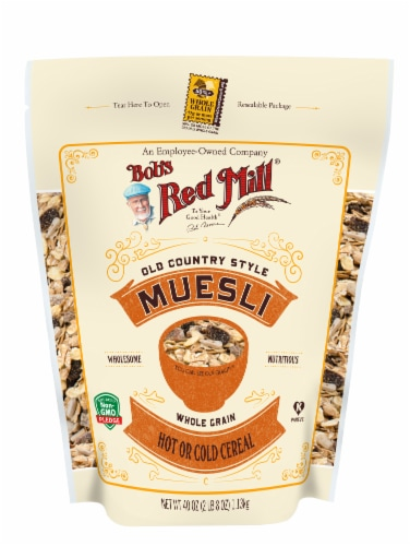 Bob's Red Mill Old Country Muesli Whole Grain Hot or Cold Cereal Perspective: front