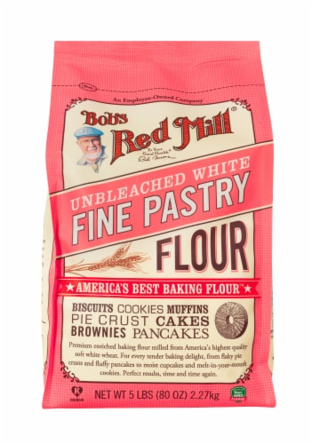 Bob's Red Mill Unbleached White Fine Pastry Flour Perspective: front