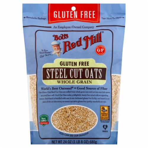 Bob's Red Mill Gluten Free Whole Grain Steel Cut Oats Perspective: front
