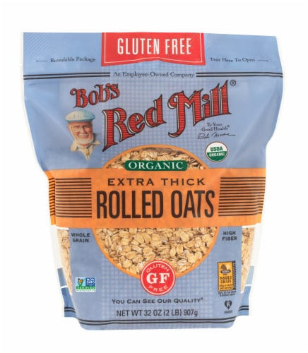 Bob's Red Mill Organic Gluten Free Thick Rolled Oats Perspective: front