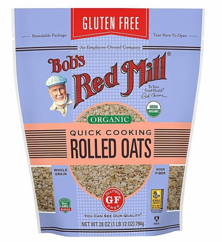 Bob's Red Mill Organic Quick Cooking Rolled Oats Perspective: front